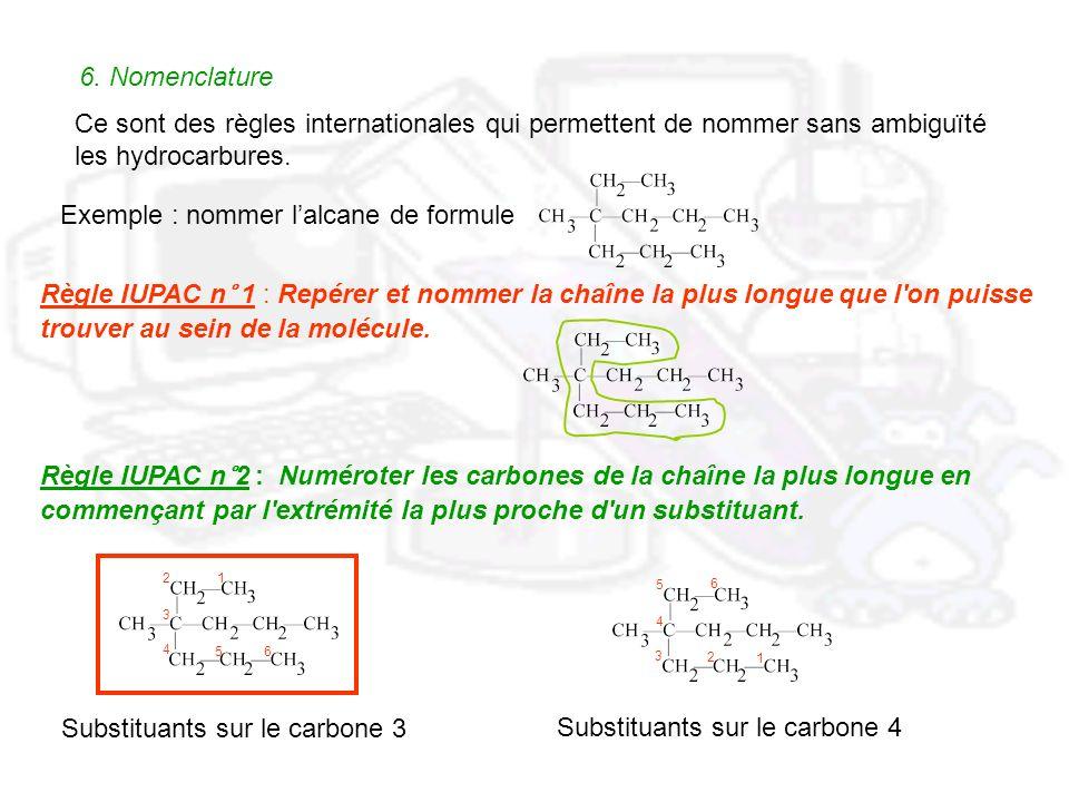 Exemple : nommer l'alcane de formule
