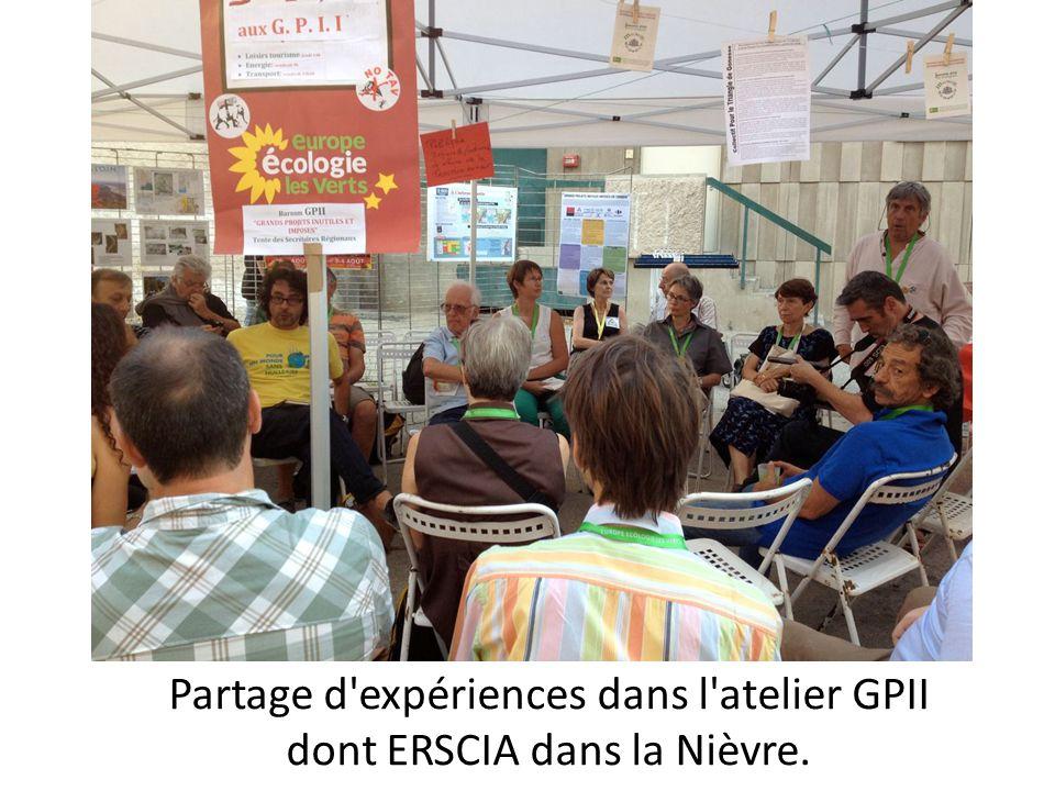 Partage d expériences dans l atelier GPII dont ERSCIA dans la Nièvre.