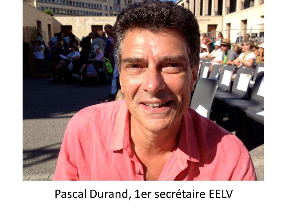Pascal Durand, 1er secrétaire EELV