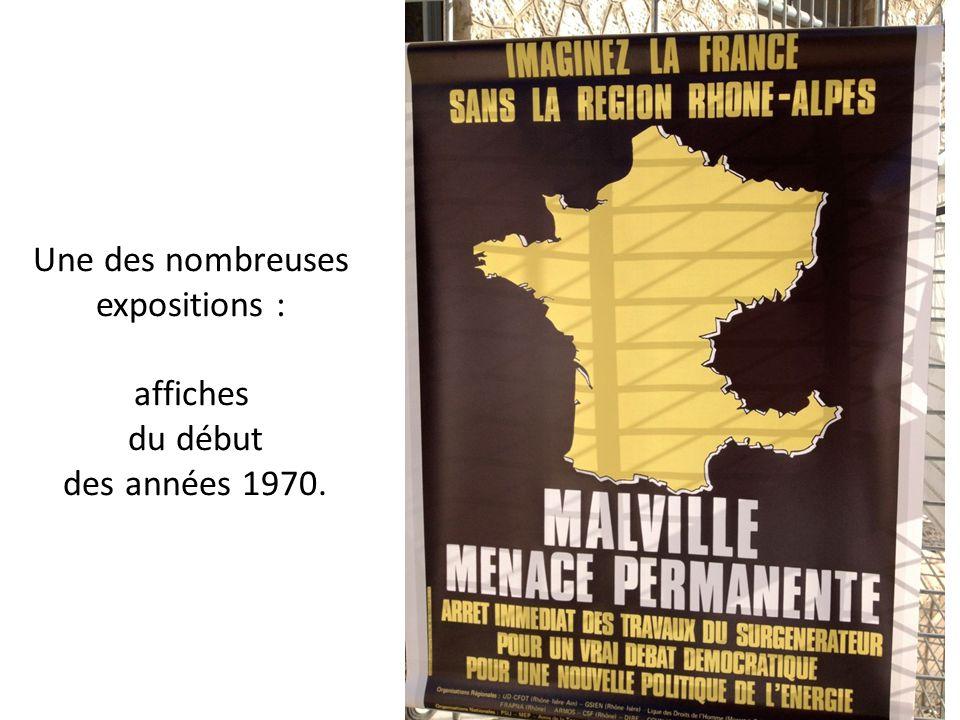 Une des nombreuses expositions : affiches du début des années 1970.