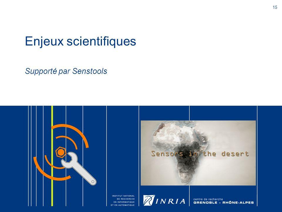 Enjeux scientifiques Supporté par Senstools