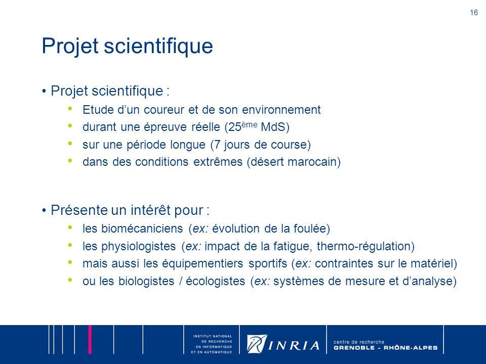 Projet scientifique Projet scientifique : Présente un intérêt pour :