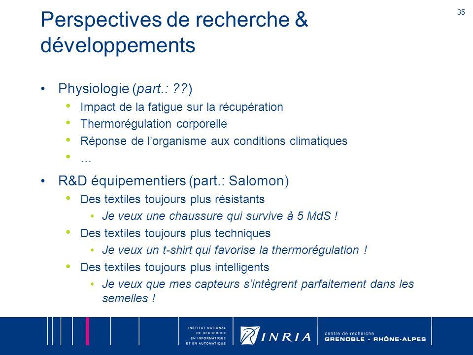 Perspectives de recherche & développements
