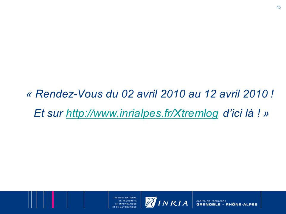 « Rendez-Vous du 02 avril 2010 au 12 avril 2010. Et sur http://www
