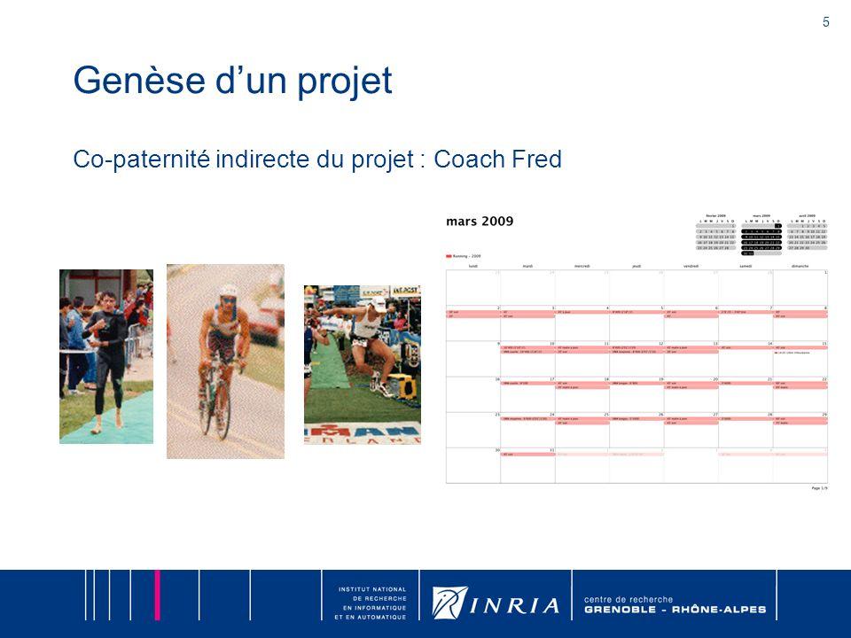 Genèse d'un projet Co-paternité indirecte du projet : Coach Fred