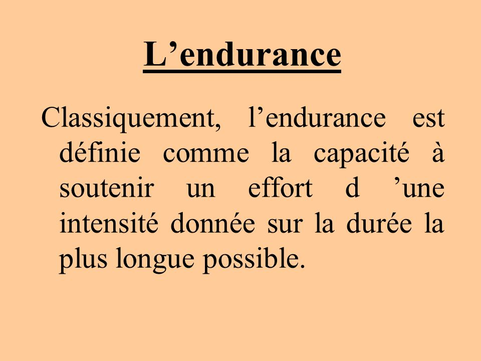 L'endurance