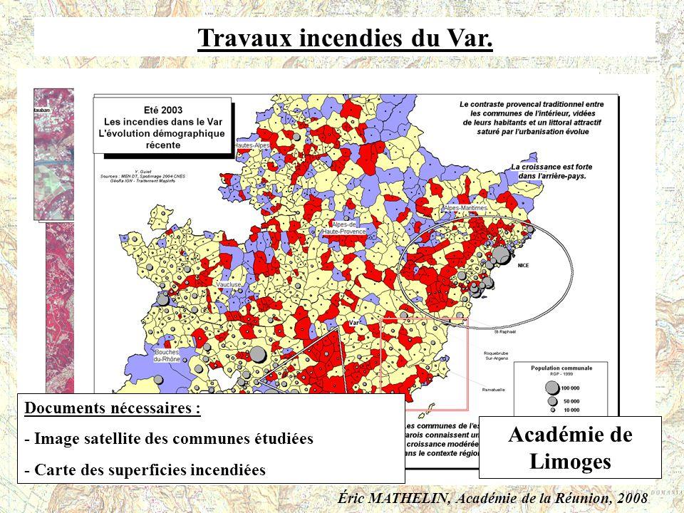 Travaux incendies du Var.