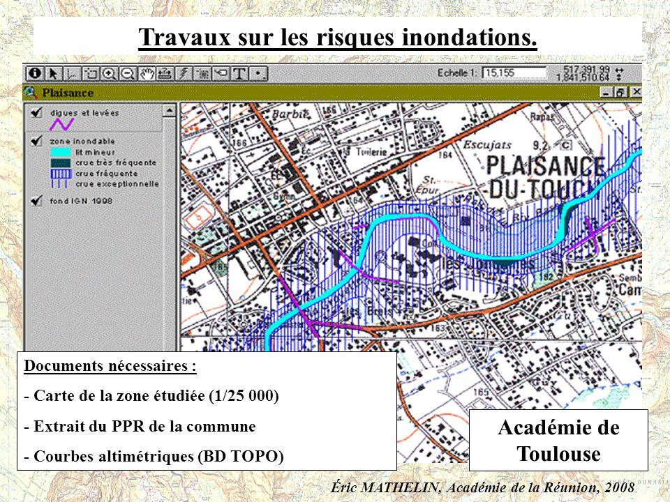 Travaux sur les risques inondations.