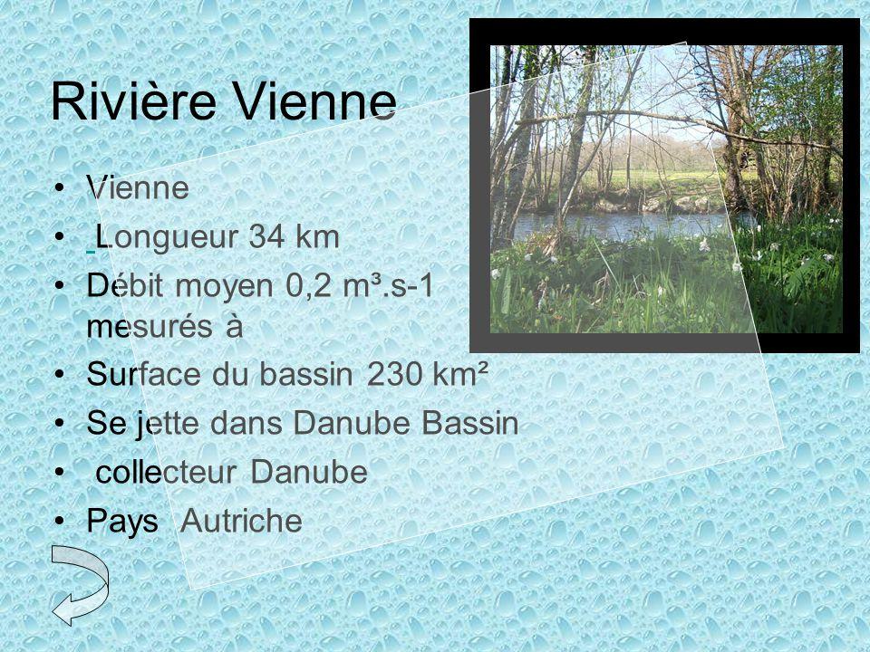 Rivière Vienne Vienne Longueur 34 km Débit moyen 0,2 m³.s-1 mesurés à