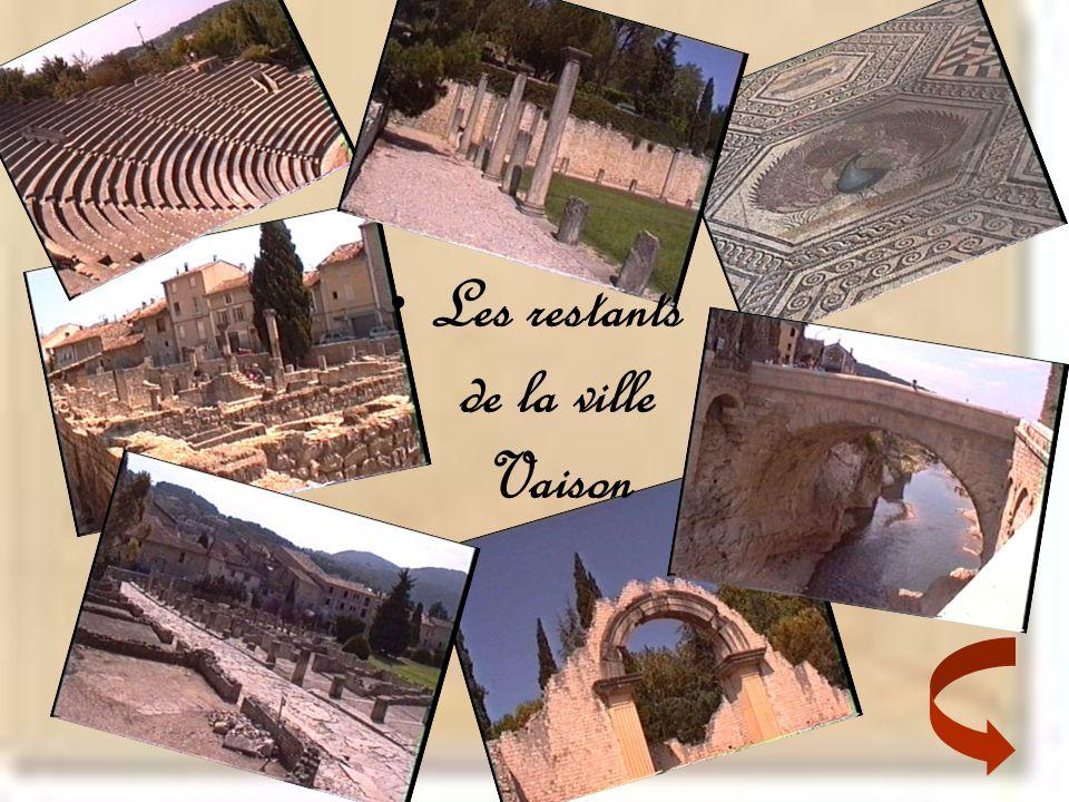 Les restants de la ville Vaison