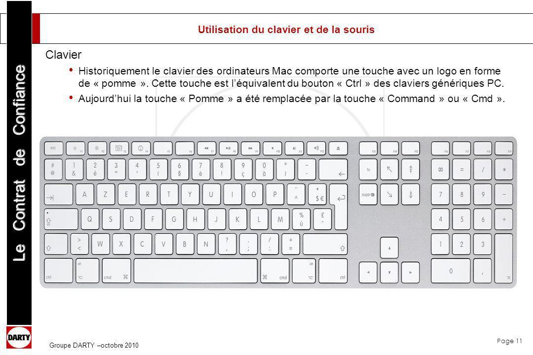 Utilisation du clavier et de la souris