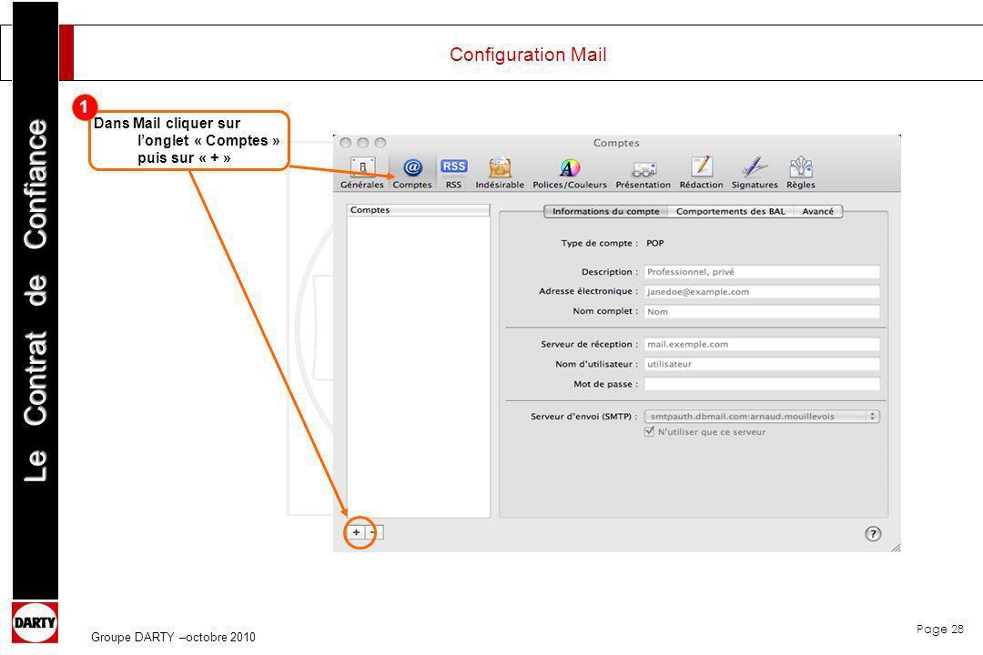 Configuration Mail 1.