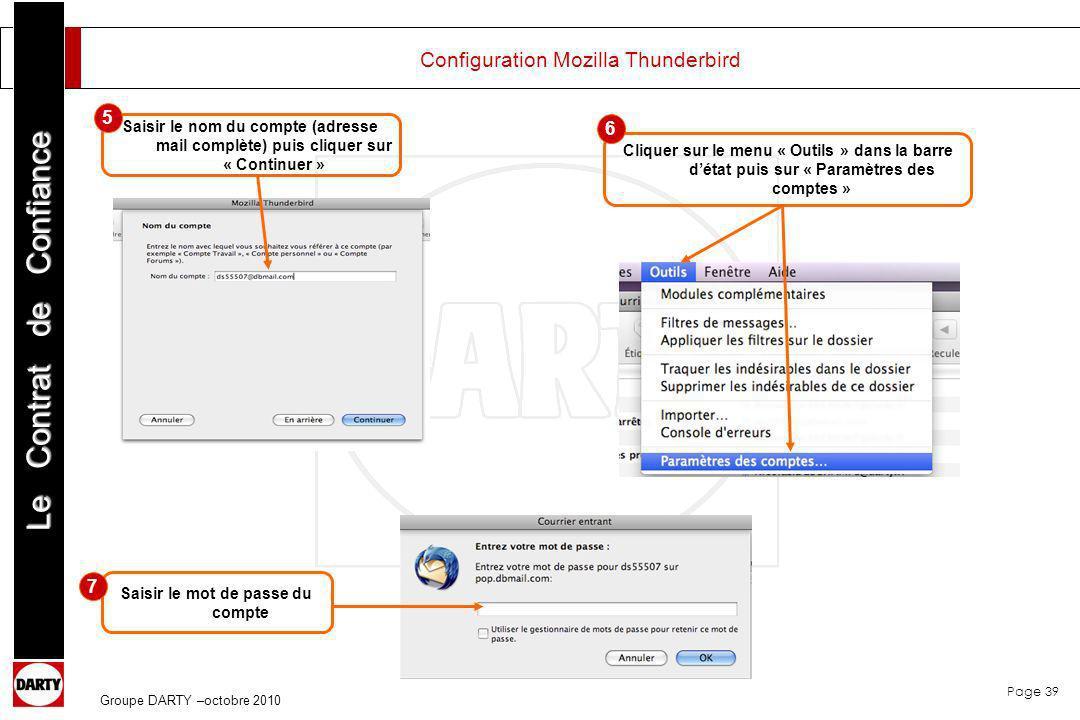 Configuration Mozilla Thunderbird