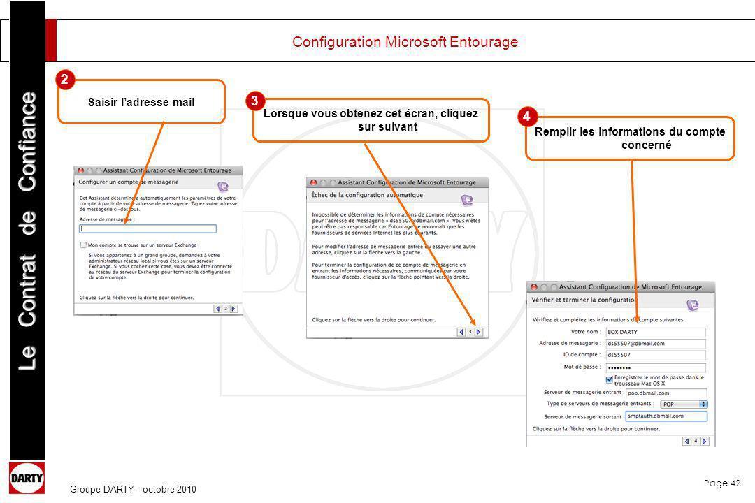 Configuration Microsoft Entourage