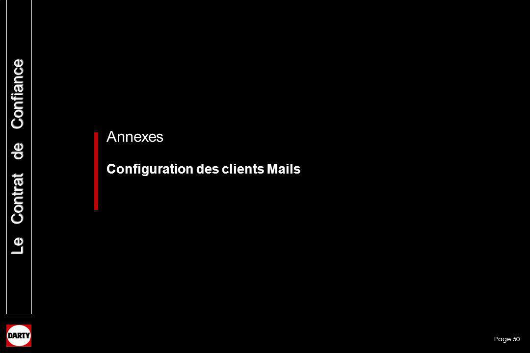 Annexes Configuration des clients Mails