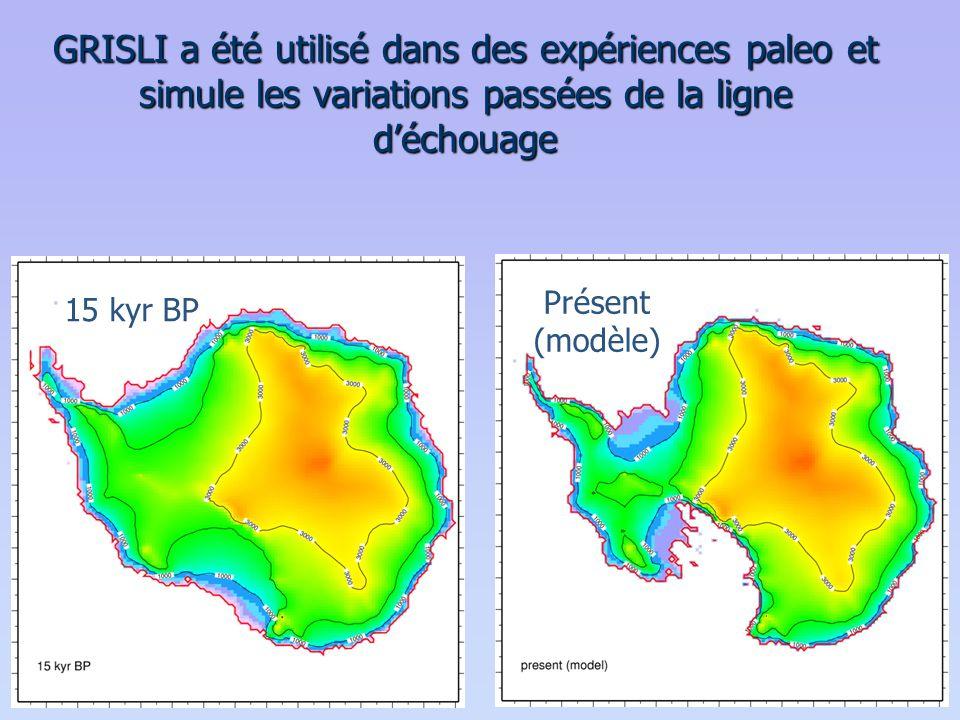 GRISLI a été utilisé dans des expériences paleo et simule les variations passées de la ligne d'échouage