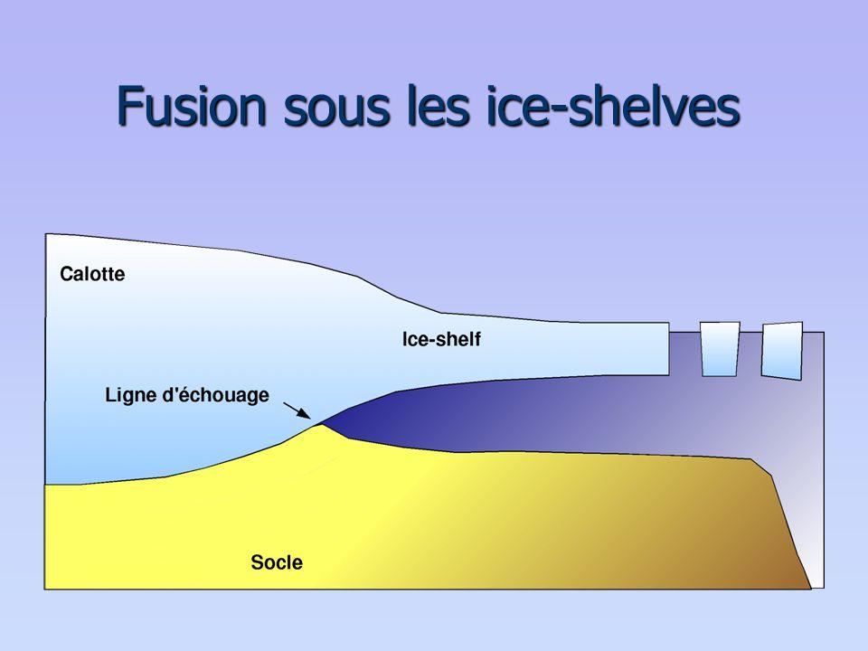 Fusion sous les ice-shelves