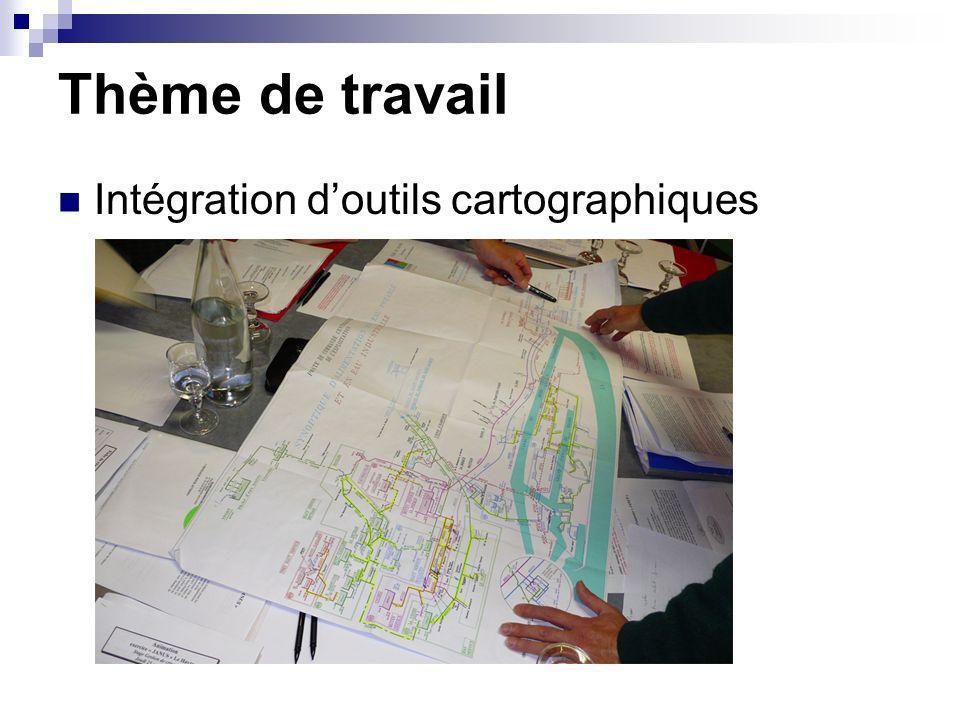 Thème de travail Intégration d'outils cartographiques