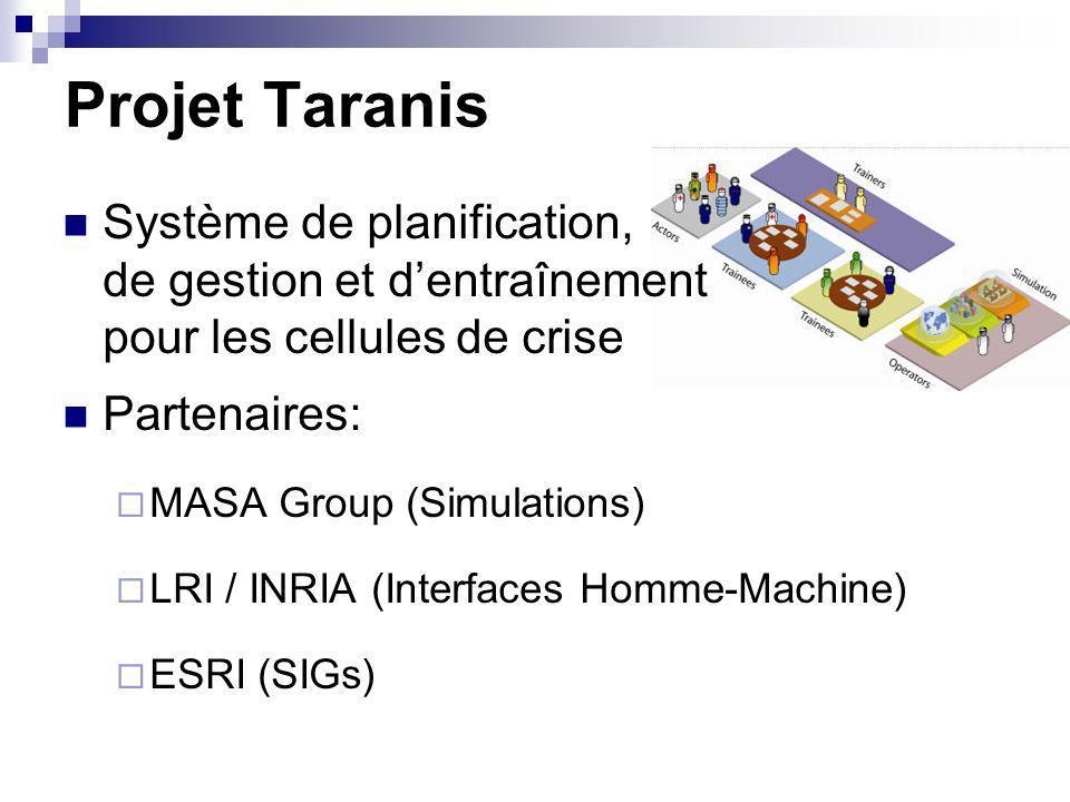 Projet Taranis Système de planification, de gestion et d'entraînement pour les cellules de crise.