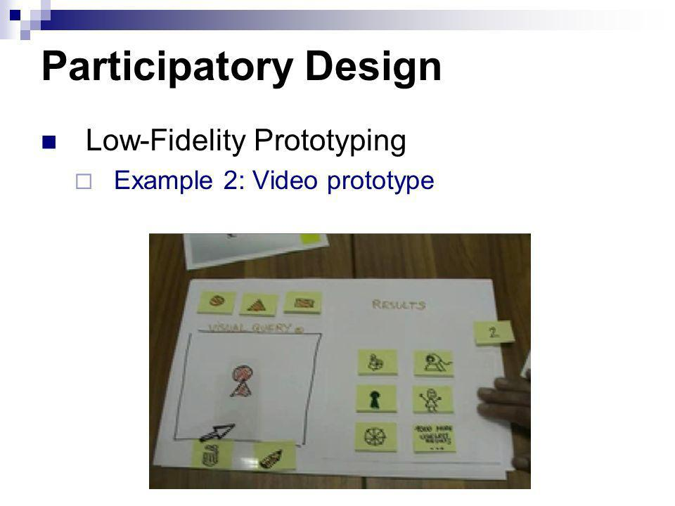 Participatory Design Low-Fidelity Prototyping