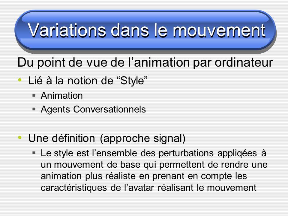 Variations dans le mouvement