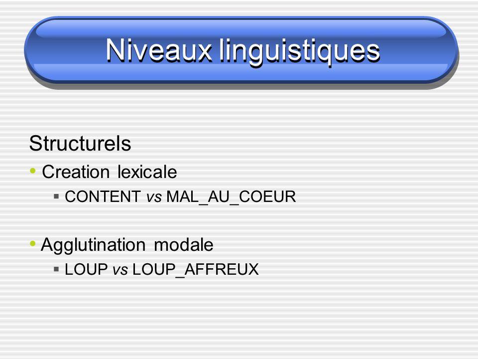 Niveaux linguistiques