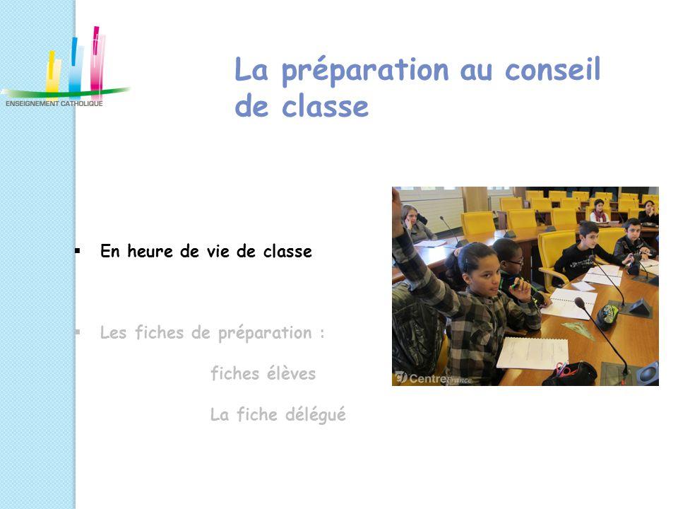 La préparation au conseil de classe