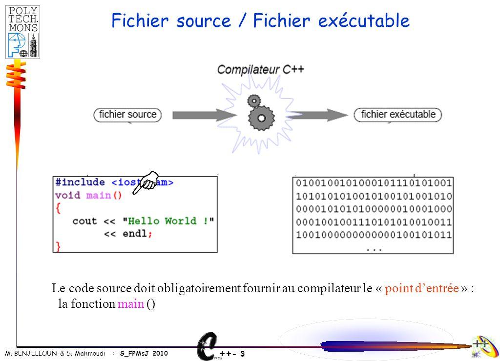Fichier source / Fichier exécutable