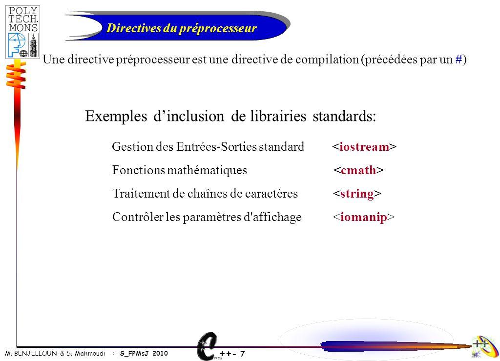 Directives du préprocesseur