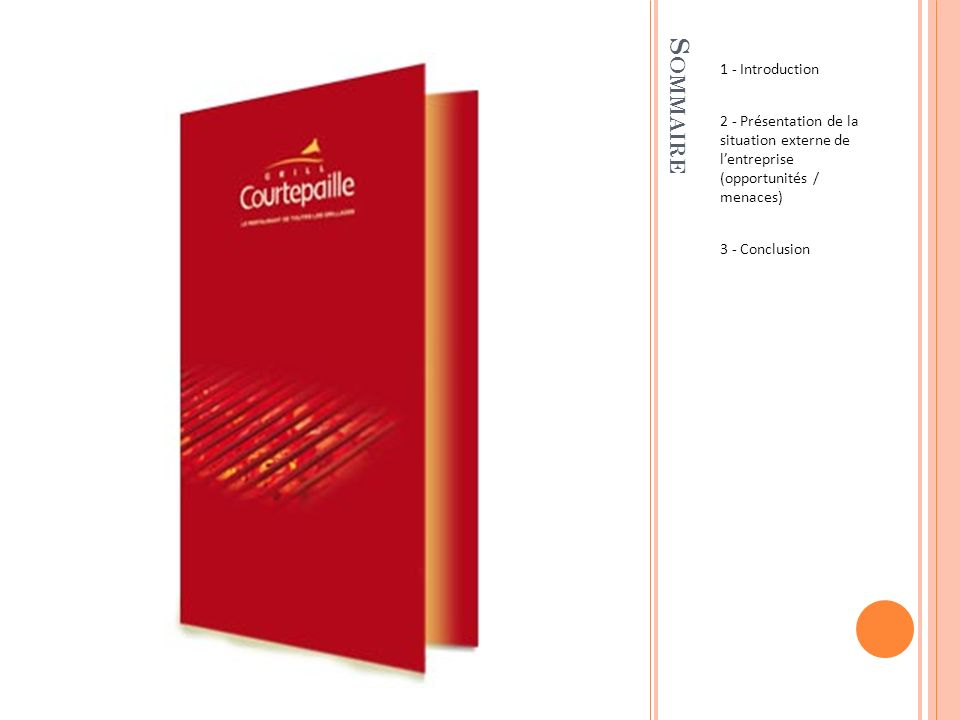 Sommaire 1 - Introduction