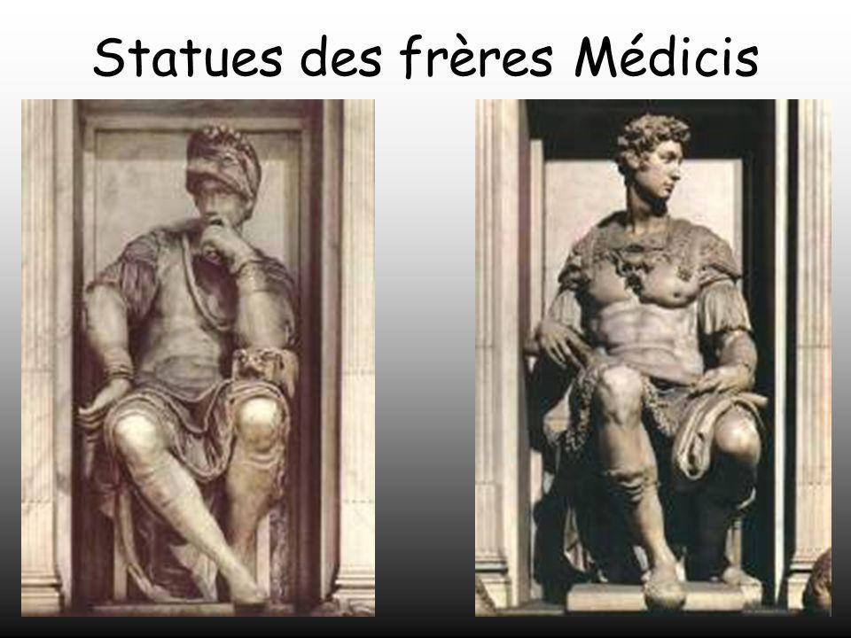 Statues des frères Médicis