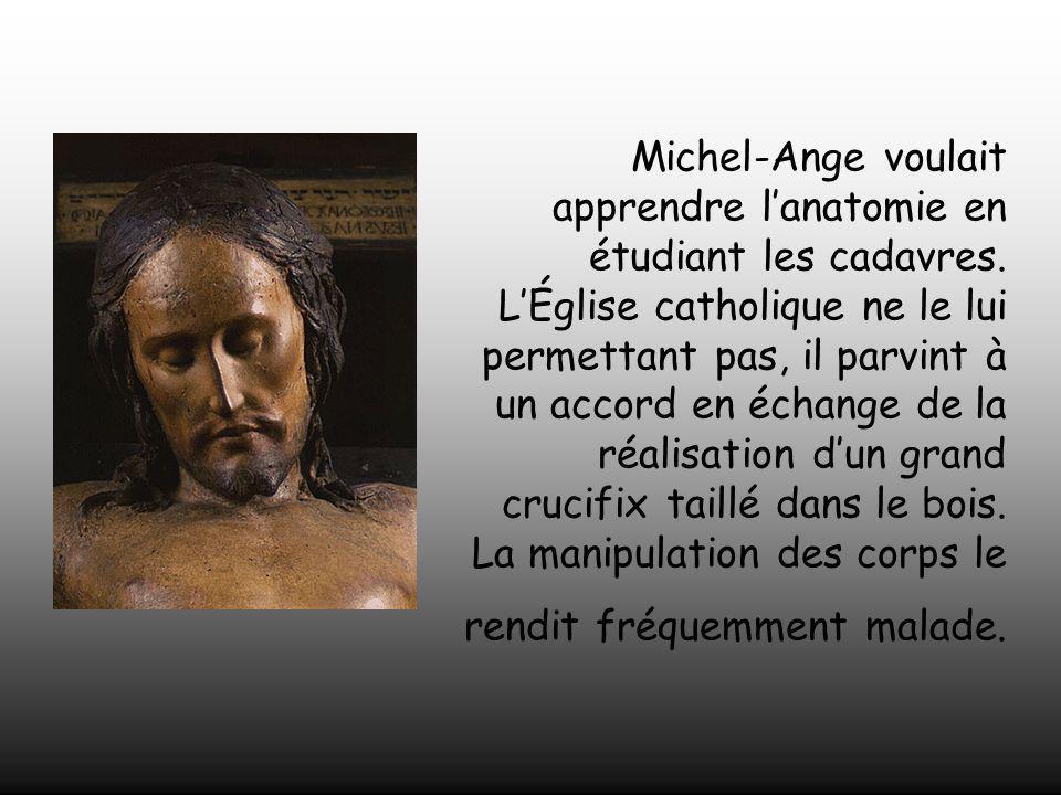 Michel-Ange voulait apprendre l'anatomie en étudiant les cadavres