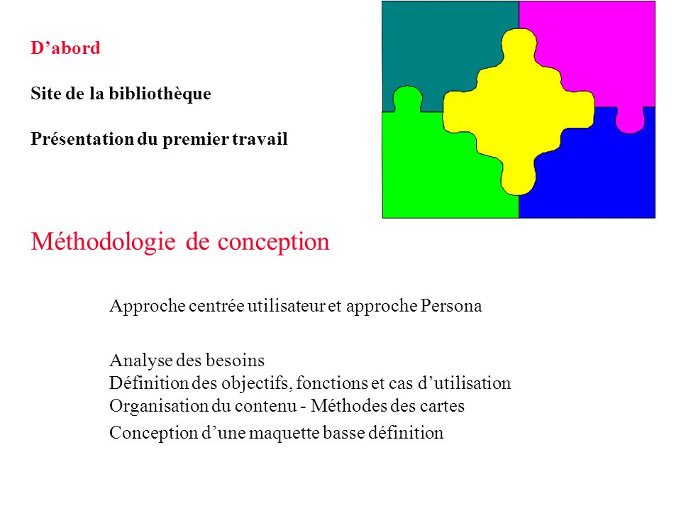 M thodologie de conception ppt t l charger - Definition de conception ...