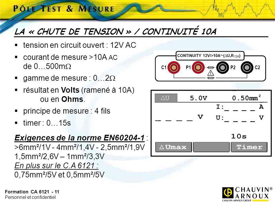 LA « CHUTE DE TENSION » / CONTINUITÉ 10A