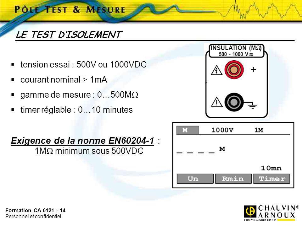 Exigence de la norme EN60204-1 :