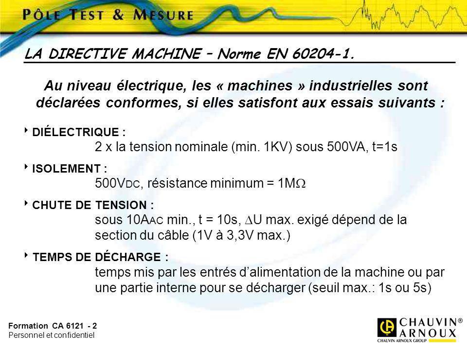 LA DIRECTIVE MACHINE – Norme EN 60204-1.