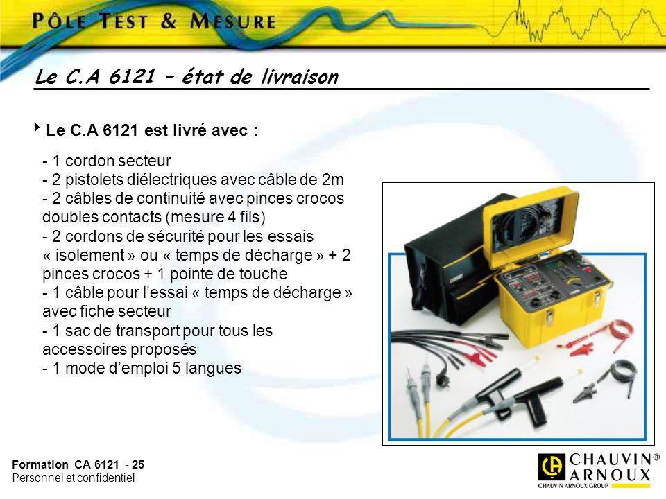 Le C.A 6121 – état de livraison