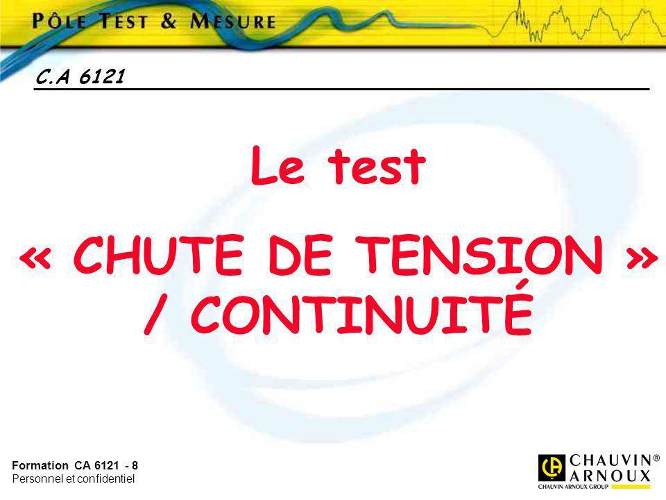 « CHUTE DE TENSION » / CONTINUITÉ