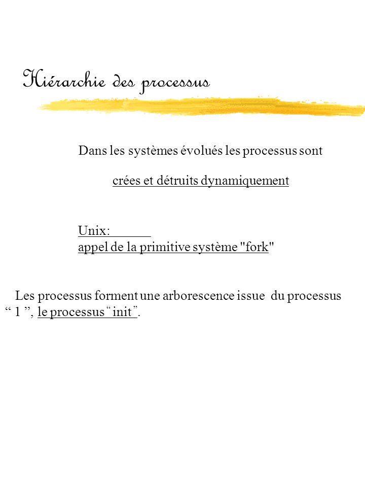 Hiérarchie des processus