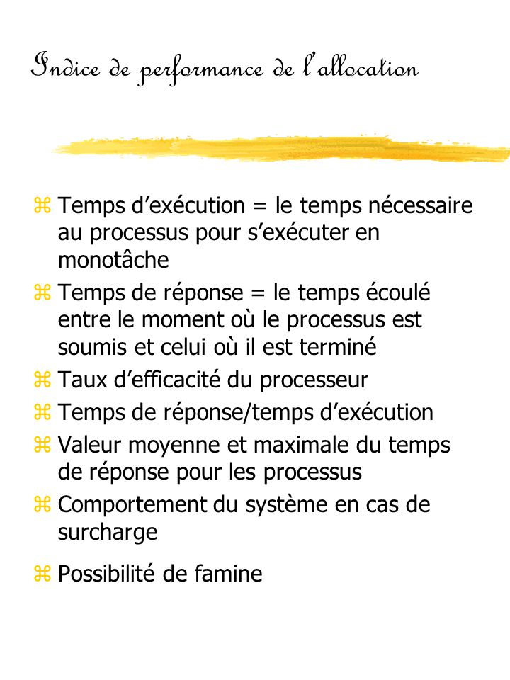 Indice de performance de l'allocation