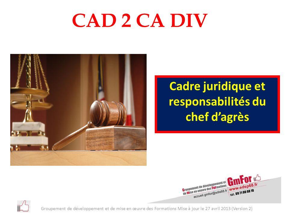 Cadre juridique et responsabilités du chef d'agrès