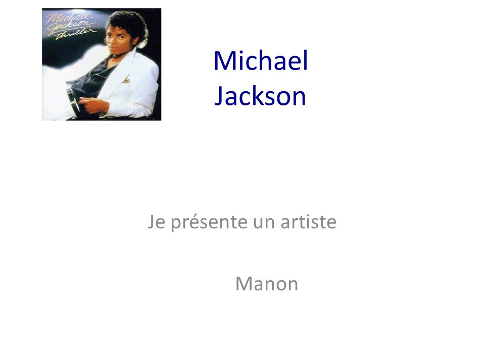 Je présente un artiste Manon