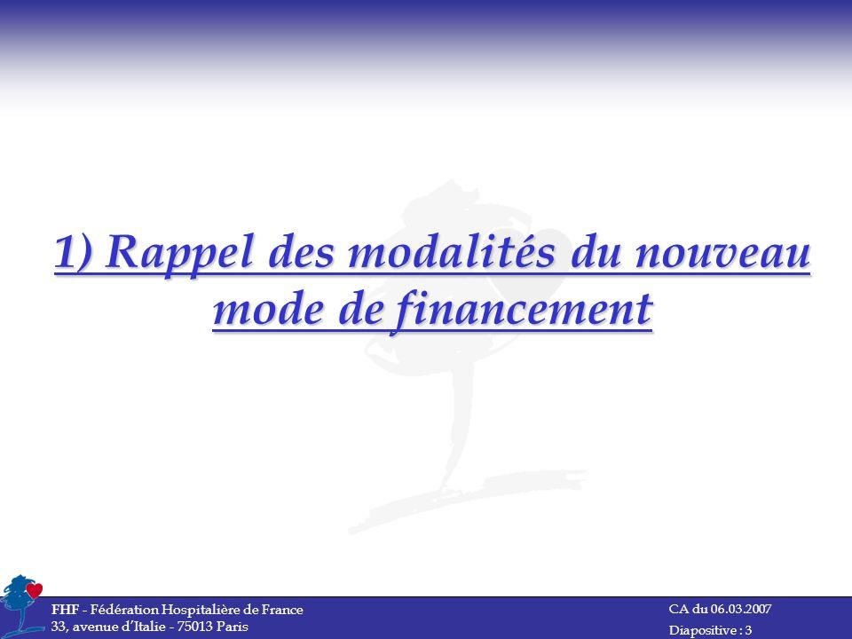 1) Rappel des modalités du nouveau mode de financement