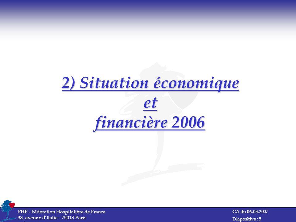 2) Situation économique et financière 2006