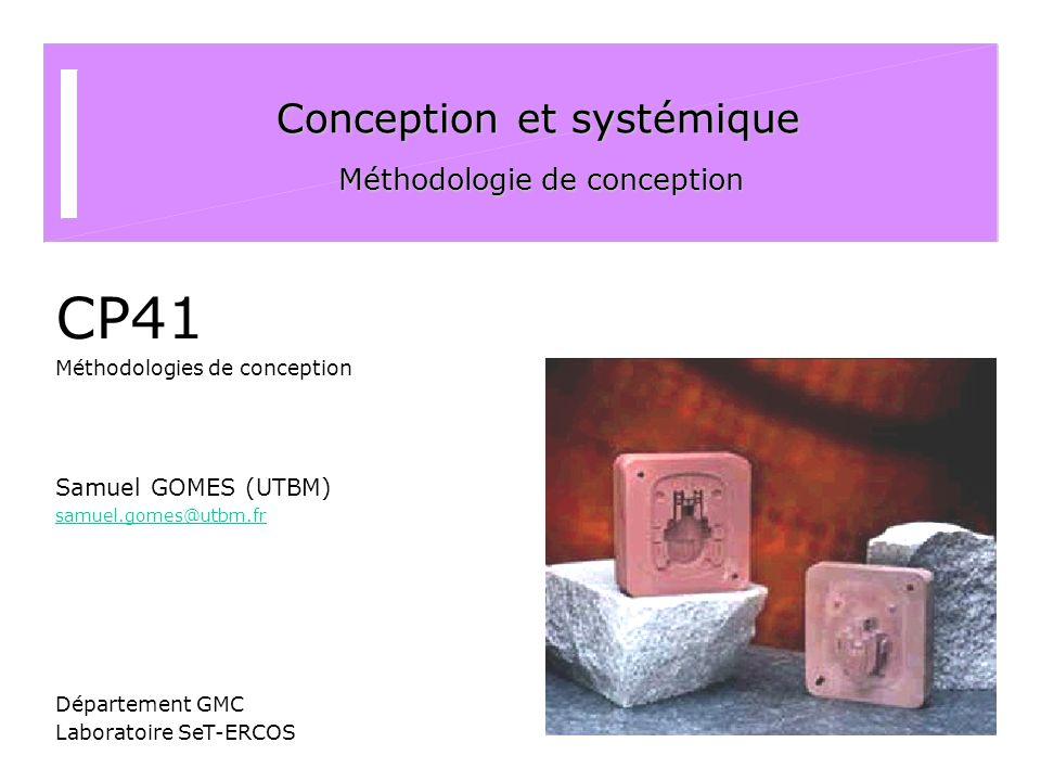 Conception et systémique Méthodologie de conception