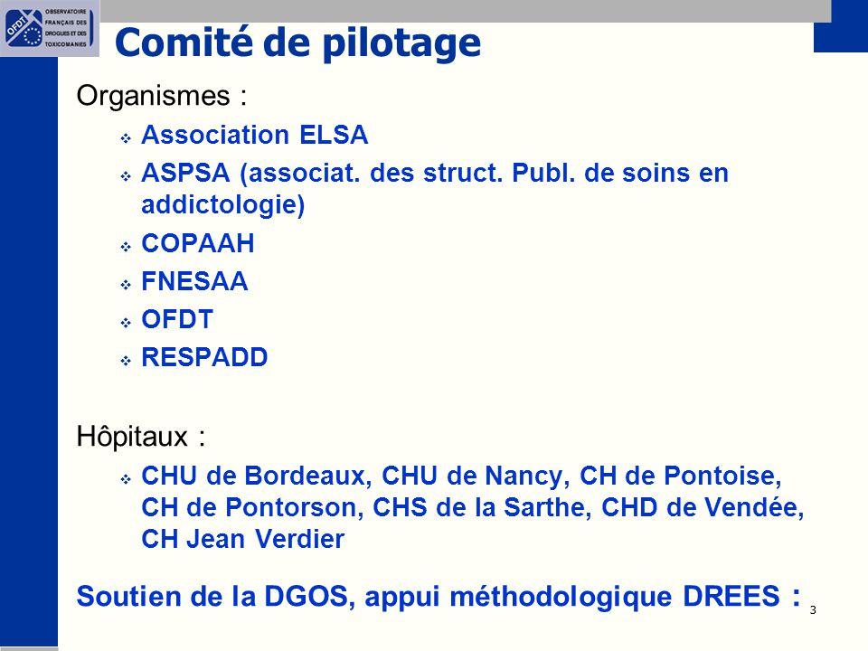 Comité de pilotage Organismes : Hôpitaux :