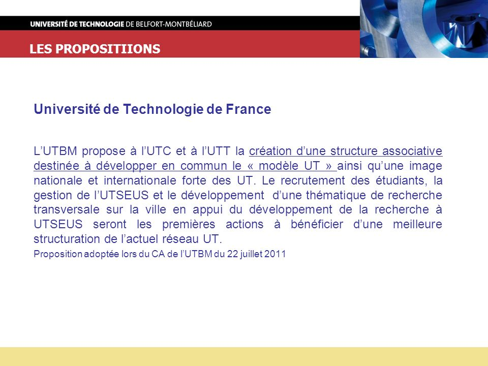 Université de Technologie de France