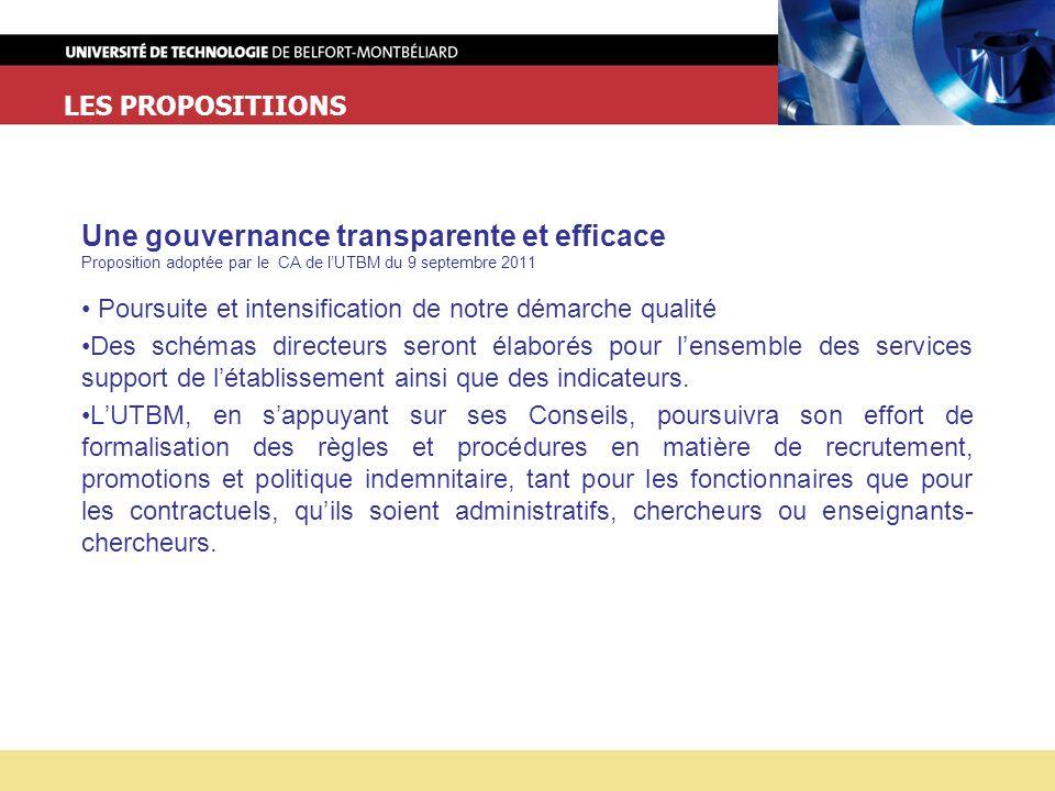 Une gouvernance transparente et efficace