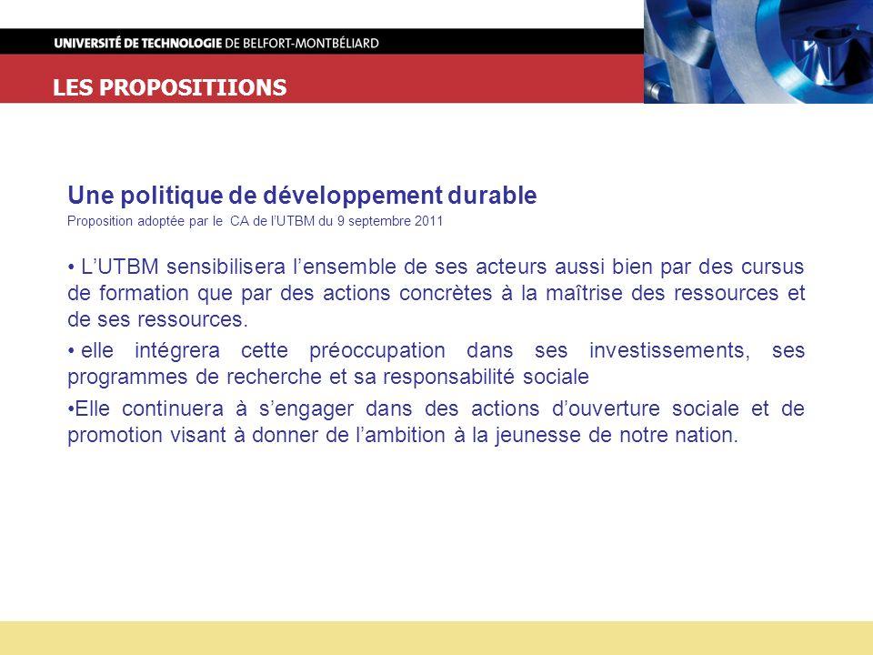 Une politique de développement durable
