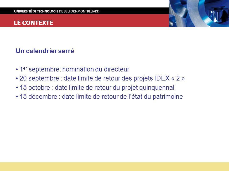 1er septembre: nomination du directeur